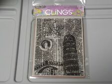HERO ARTS CLINGS #CG425 ITALY BACKGROUND RUBBER STAMPS NEW A1323