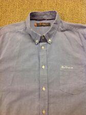 men's BEN SHERMAN (3) Large, Blue, 100% Cotton, Long Sleeve Shirt. Superb