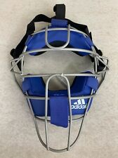 Adidas Pro Issue Baseball Catchers Umpires Mask Blue Silver D85023 NWT