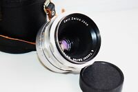 RARE Silver Carl Zeiss Jena TESSAR Germany lens 50mm f/2.8 M42 mount EXC