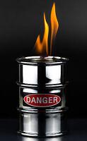 Öllampe Barrel Brennkammer Feuertonne für Balkon & Terrasse Danger 3319 Sompex