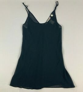 NWT Victoria's Secret Sheer Sleepwear Camisole Tank Top Adjustable Straps Black