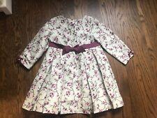 Janie and Jack Silk Formal Dress mint green maroon Cherry Blossom 3t