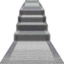 Teppichläufer Läufer Flur Diele Küchenläufer Modern 67 80 100 120 cm Breit Grau