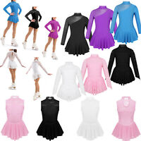 Kids Girls Ballet Dance Dress Gymnastics Leotard Skating Ballerina Skirt Costume