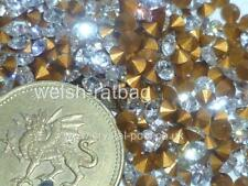 36 x Swarovski 13ss / 25pp Crystal diamanté gold-foiled #1012 chatons