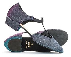 Mutli Coloured Sparkly Glitter Dance Greek Sandal Line Dance Salsa Shoes By Katz