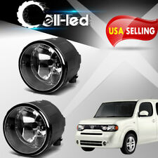 for Nissan Cube Juke Murano Rogue Clear Fog Light Front Bumper Lamps w/Bulbs L+R