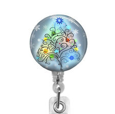 Christmas Tree Badge Reel, Retractable Badge Holder for the Holidays, BR903