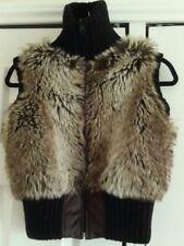 Waist Length Faux Fur Plus Size Waistcoats for Women