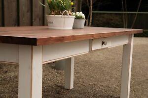 Tisch Esstisch Massivholz Landhaustisch Esszimmer 120 cm mod04 shabby/antik matt