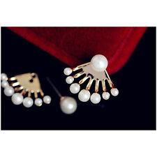 Woman 8 pearl earrings Moon after hanging cute cute little pearl earrings C1056