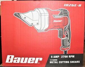 Bauer 1826E-B 5-Amp 14-Gauge Metal Shears Corded