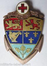Insigne Marine 1940 NAVIRE HOPITAL CANADA Drago béranger ORIGINAL WWII France