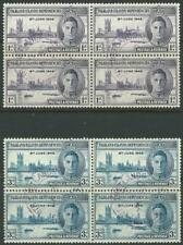FALKLAND ISLANDS DEP - 1946 KGVI 'VICTORY' ISSUE VFU Blocks x4 SGG17-G18 [A4624]