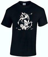 Japanese Dragon Ball Z Anime DBZ SUPER SAIYAN G4 Funny T Shirt Goku Cosplay