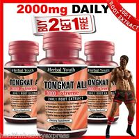 TONGKAT ALI CAPSULES 3000 EXTREME 200:1 ROOT EXTRACT LONGER HARDER SEX DRIVE