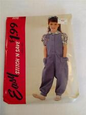 1991 McCall's 5510 Girls Size B (4-5-6) Jumpsuit & Blouse Sewing Pattern