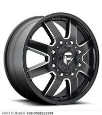 Fuel D538 Maverick Dually (Front) 22x8.25 8x210 +104.8mm Black/Milled Wheel Rim