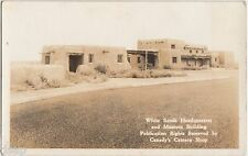 Old near LAS CRUCES New Mexico NM RPPC Postcard WHITE SANDS HEADQUARTERS Museum