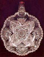 Antique Mars Cut Glass Nappy Pitkins & Brooks A Beauty