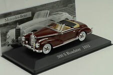 1952 Mercedes-Benz W188 300 S Roadster red dunkelrot 1:43 IXO Altaya Collection