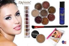 ITAY 2.5 Gram Foundation MF3+Nature Beauty 8 Stack+Mica & Glitter Bond+Brush+Bag
