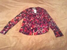 Jones New York NEW Purple Ruffled Long Sleeve  Button-Down Top Blouse 2    079