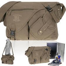 Schultertasche Laptop Notebook Tasche CANVAS JACK Kuriertasche 15,4 Zoll ARMY