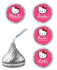 108 PERSONALIZED HELLO KITTY BIRTHDAY PARTY KISSES LABELS FAVORS DECALS STICKERS