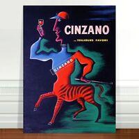 "Vintage French Liquor Poster Art ~ CANVAS PRINT 36x24"" Cinzano Centaur"