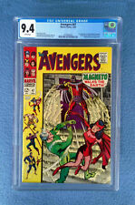 AVENGERS #47 CGC 9.4 NEAR MINT WHITE PAGES  MAGNETO COVER MARVEL COMICS
