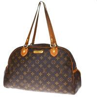 Auth LOUIS VUITTON Montorgueil GM Shoulder Bag Monogram Leather M95566 31BQ313