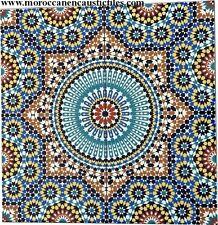 Moroccan large wall tiles (Zalij style). Handmade in Marrakech. Authentic tiles