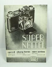 Vintage Zeiss Iknon Super Nettel Pamphlet