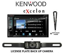 """New listing Kenwood eXcelon Ddx595 6.2"""" Dvd Player w/ Bluetooth & License Plate Back Up Cam"""