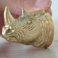 Cool Knife Pommel Rhino for Custom Knives Making Handles Bolster Solid Bronze