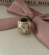 GENUINE PANDORA 'WHITE MOTHER OF PEARL HEARTS' CHARM.  790398MPW.  RETIRED