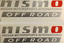NIsmo Vinyl Decal Sticker Set Of 2 New Outdoor Grade Vinyl Nissan 4x4 Off Road