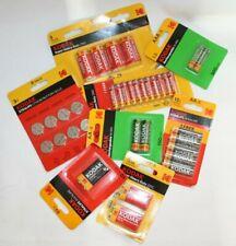 Kodak AAA AA 3V 9V C Xtralife Alkaline Lithium Button Cells Recharg. Batteries