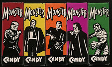 Universal MONSTER CANDY SET 5 MINT BOXES CREATURE, WOLFMAN, PHANTOM, FRANK, DRAC