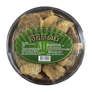 Crispy Fried Gourami Dried fish Pla Salid in Thai a true native Sirinthip Brand