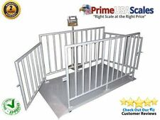 """5000 LB x 1 LB Optima NTEP 60"""" x 30"""" Cattle Livestock Animal Scale System & Cage"""