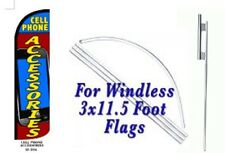 Cell Phone Accesories  Windless  Swooper Flag With Complete Kit