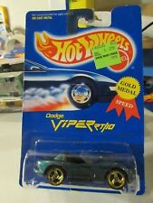 Hot Wheels Dodge Viper RT/10 #210 All Blue Card Green