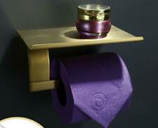 Bathroom Brushed Gold Paper Holder Toilet Tissue Brass Rack Mobile Phone Shelf