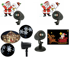 Christmas Animated LED Projector Light Outdoor Landscape Stage Xmas Lamp