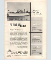 1961 PAPER AD 30' Pearson 21' 27' 37' Sports Fisherman Motorboat Boat
