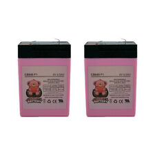 Charity Battery 6 Volt 6v 4.5ah Rechargeable Deer Game Feeder Battery - 2 Pack