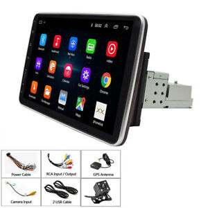 Car MP5 Player Stereo Radio 10.1in Quad Core 32G Bluetooth Hands Free+4LED Cam